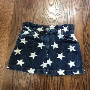 Mini Boden Star Denim Skirt 5-6yr